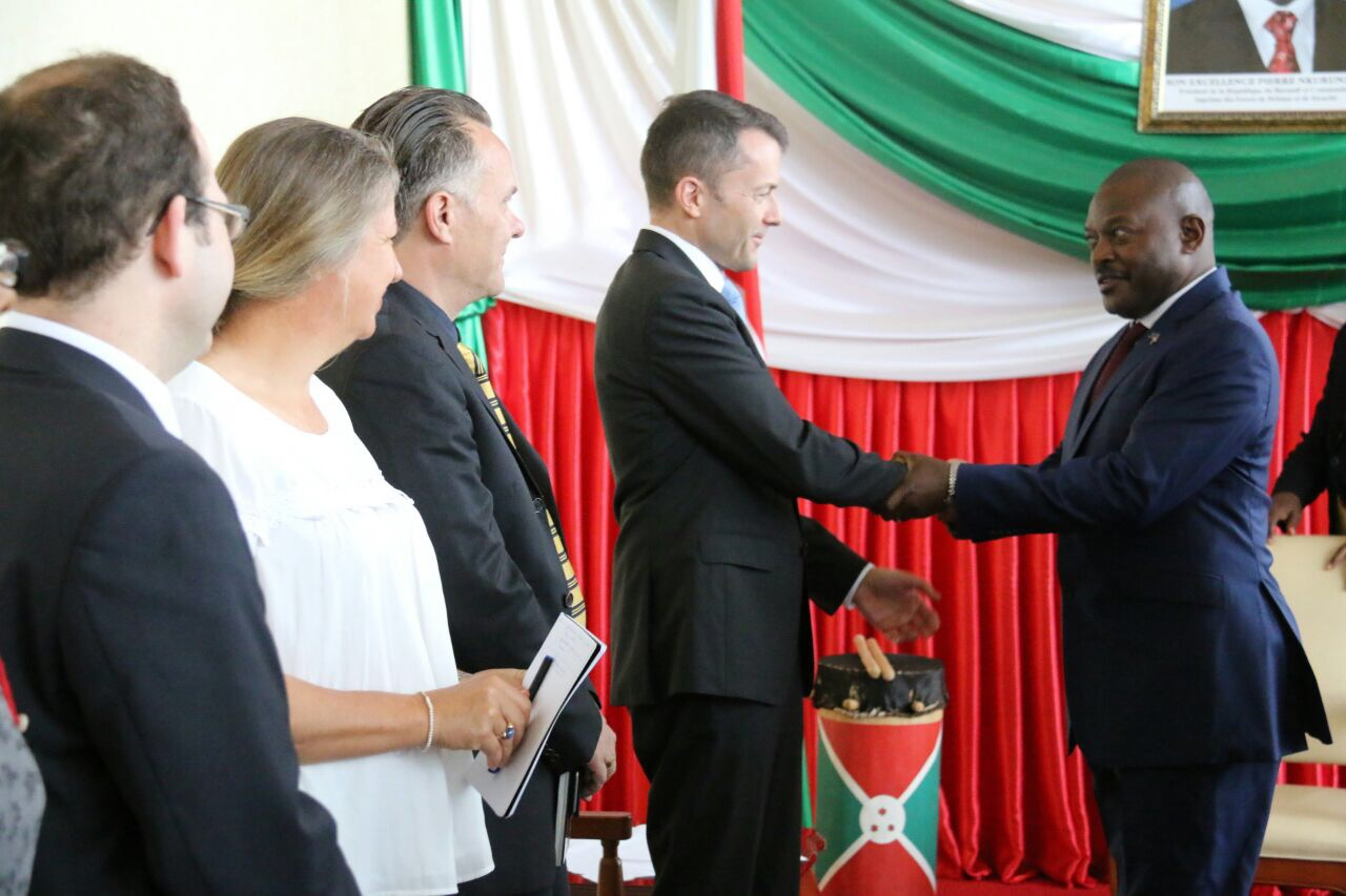 Le Président de la République reçoit en audience le Président de la Configuration Burundi à la Commission de la Consolidation de la Paix des Nations Unies