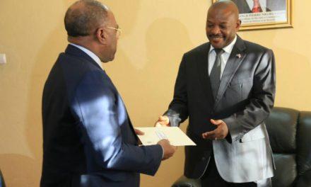 Le Président Nkurunziza a reçu un émissaire de son homologue congolais