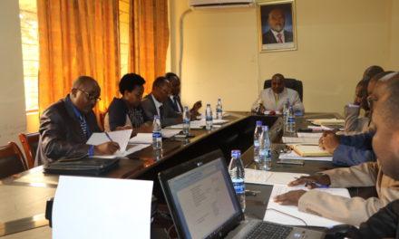 Le Deuxième Vice-Président de la  République préside une réunion  du Comité de Pilotage du Bureau de Centralisation Géomatique