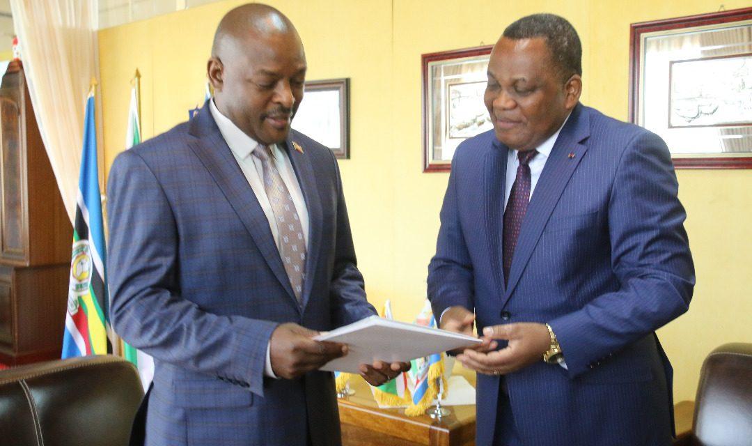 L'Envoyé spécial du Président Congolais reçu par son Excellence Pierre Nkurunziza