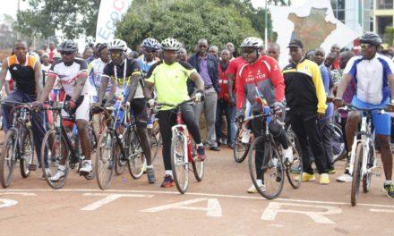 Son Excellence Pierre Nkurunziza lance une course à vélo pour la paix