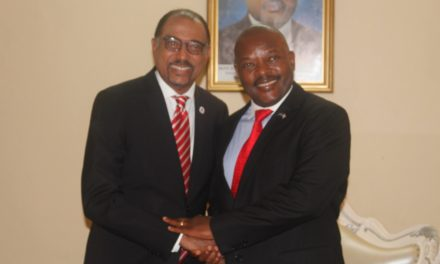 Son Excellence Pierre Nkurunziza a reçu en audience le Directeur exécutif de l'ONUSIDA