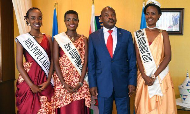 La Miss Burundi 2017, reçue par Son Excellence le Président de la République
