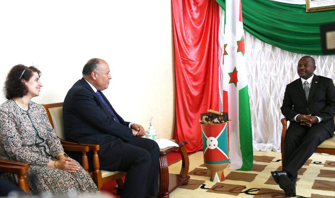 Le Président de la République reçoit le Ministre Égyptien des Affaires Étrangères