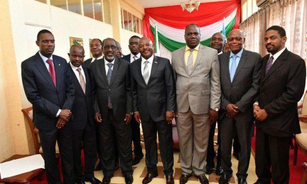 Son Excellence Pierre Nkurunziza reçoit les parlementaires de la CIRGL