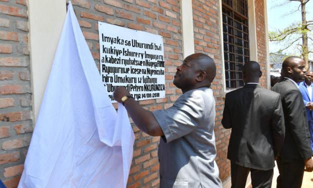 Inauguration des œuvres du 56ème anniversaire de l'indépendance à Kabezi