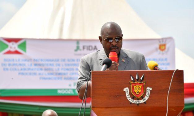 Le Chef de l'Etat a lancé le Projet d'Appui à l'Inclusion Financière Agricole et Rurale du Burundi