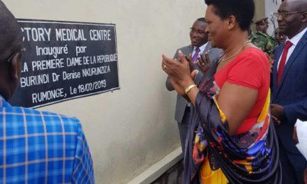 Un nouveau centre de santé inauguré par la Première Dame à Rumonge