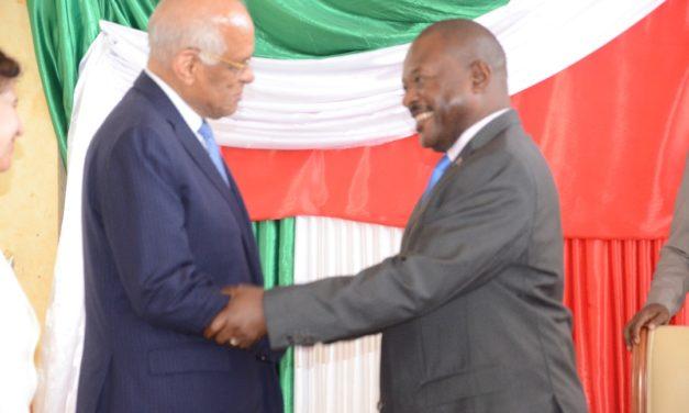 Très Honorable Dr. Ali Abdel -Aal reçu en audience par le Président Burundais.