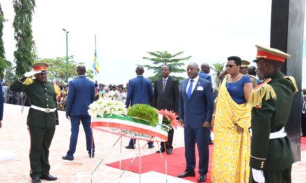 Le Couple Présidentiel prend part aux cérémonies commémoratives du 58è anniversaire de l'assassinat du Héros de l'Indépendance