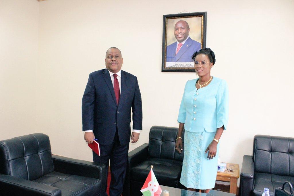 La Première Dame du Burundi reçoit en audience le Coordinateur Résident du Système des Nations Unies au Burundi