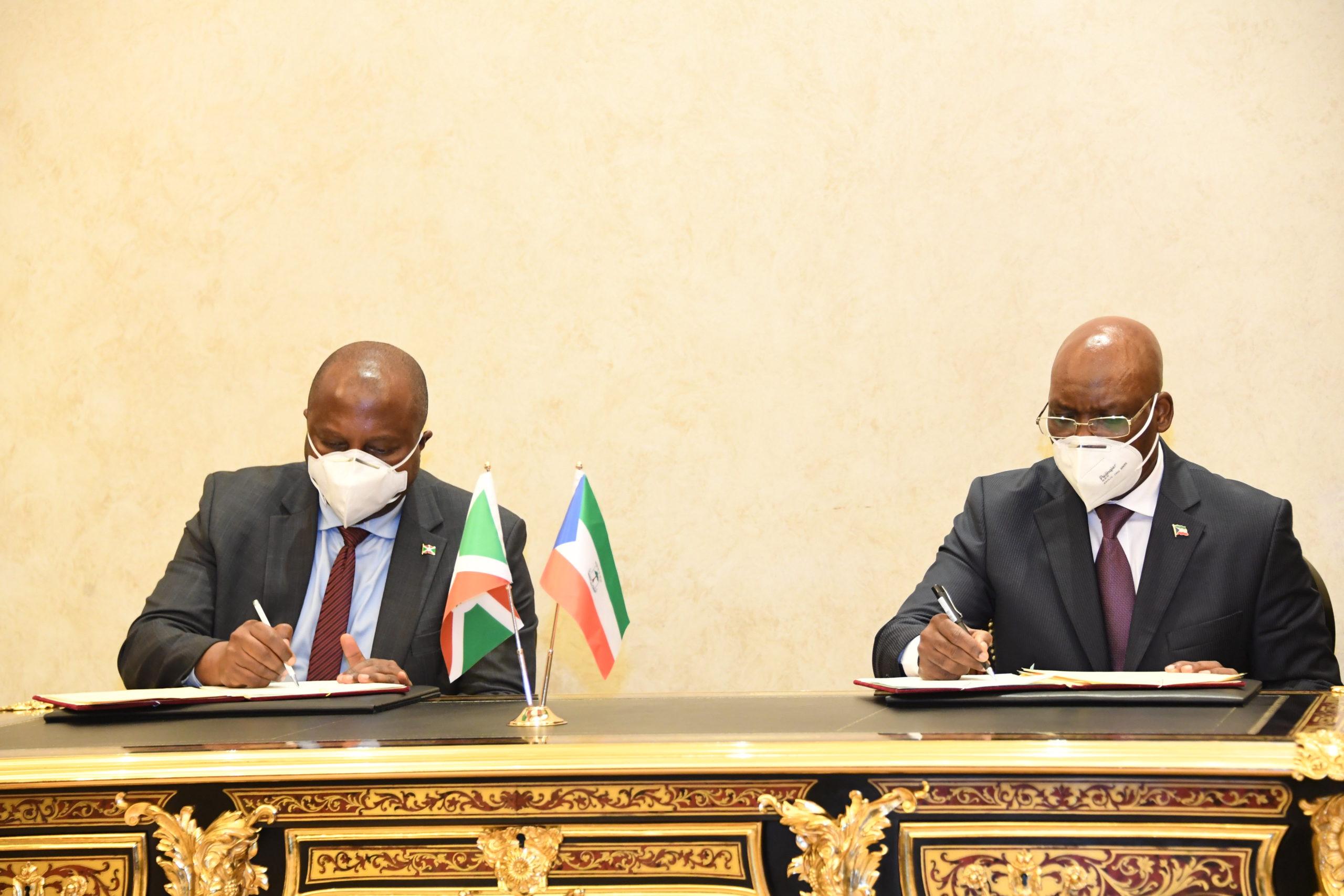 Visite d'Etat du Président Evariste Ndayishimiye en Guinée Equatoriale, six accords de coopération signés