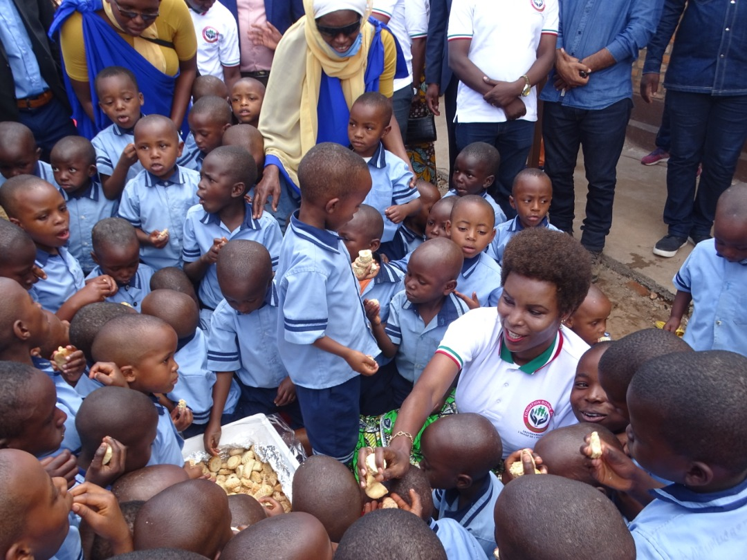 The First Lady supports Faith School of Muramvya