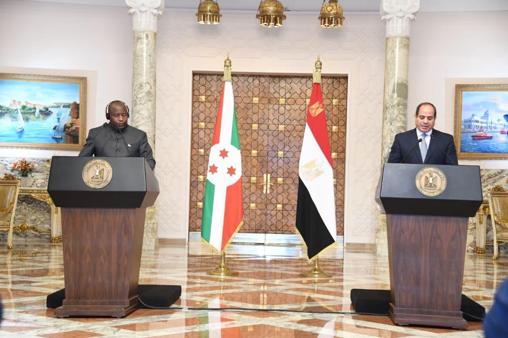 Discours de SE Evariste Ndayishimiye à l'occasion du point de presse conjoint en marge de sa Visite officielle en Egypte, en mars 2021