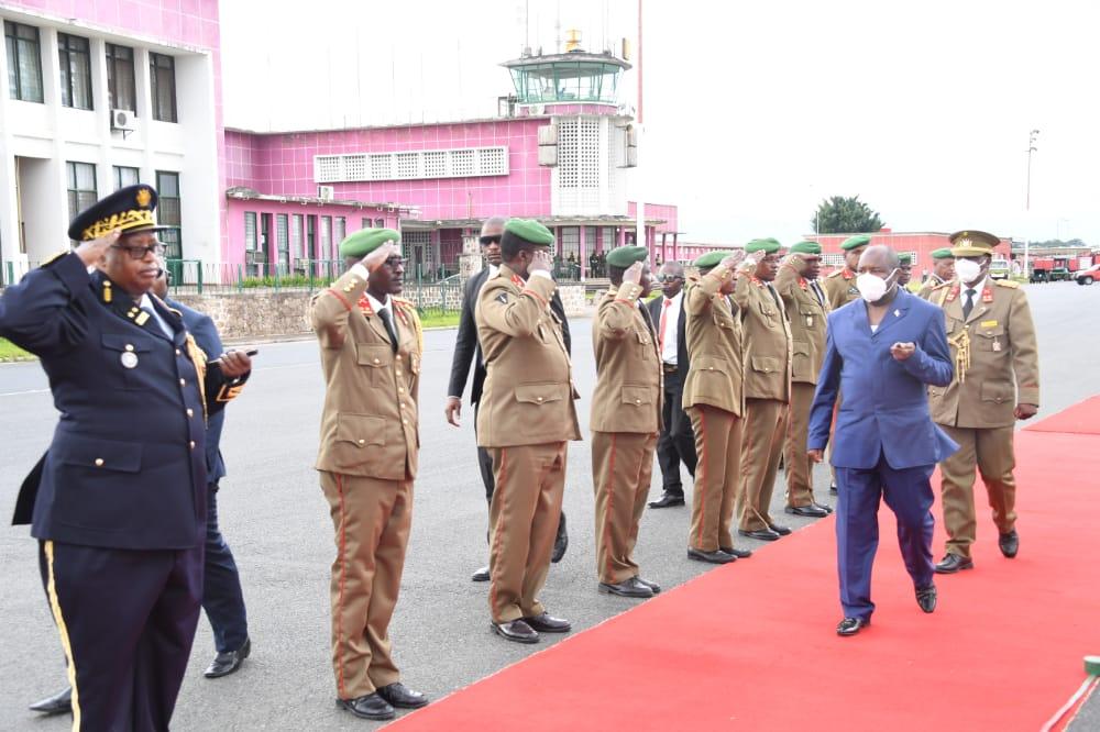 Le Président de la République rentre de la République Centrafricaine