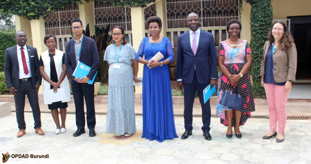 La Première Dame reçoit en audience le Représentant de l'UNICEF au Burundi