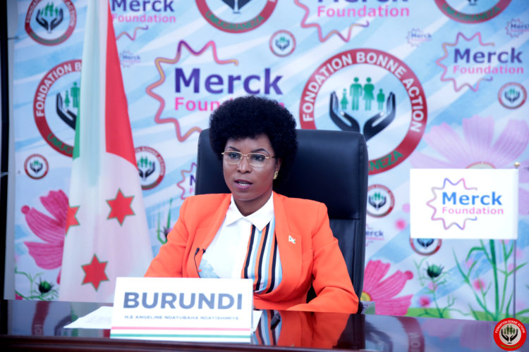 The First Lady of Burundi participates in the 8th edition of MERCK Foundation Africa Asia Luminary