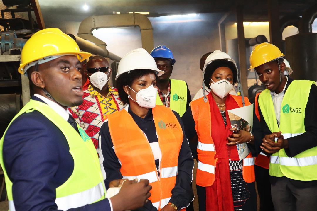 H.E Angeline Ndayishimiye visits KAGE Company