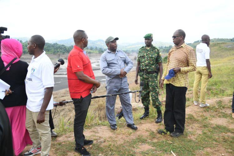 Le Chef de l'Etat visite le barrage d'irrigation de Kajeke à Bubanza