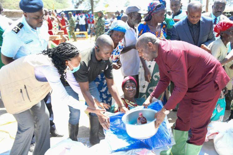 Le Chef de l'État visite les sinistrés des inondations de Gatumba et Rukaramu