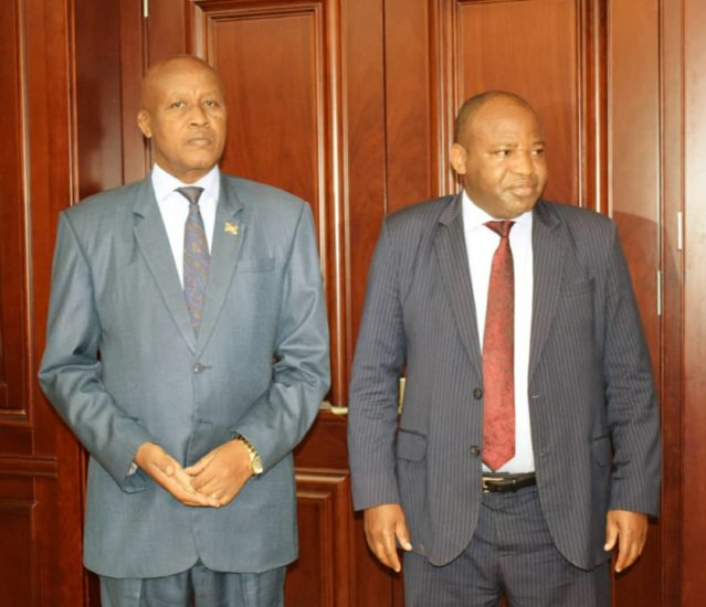 Le Vice-Président Bazombanza reçoit l'Ambassadeur du Kenya