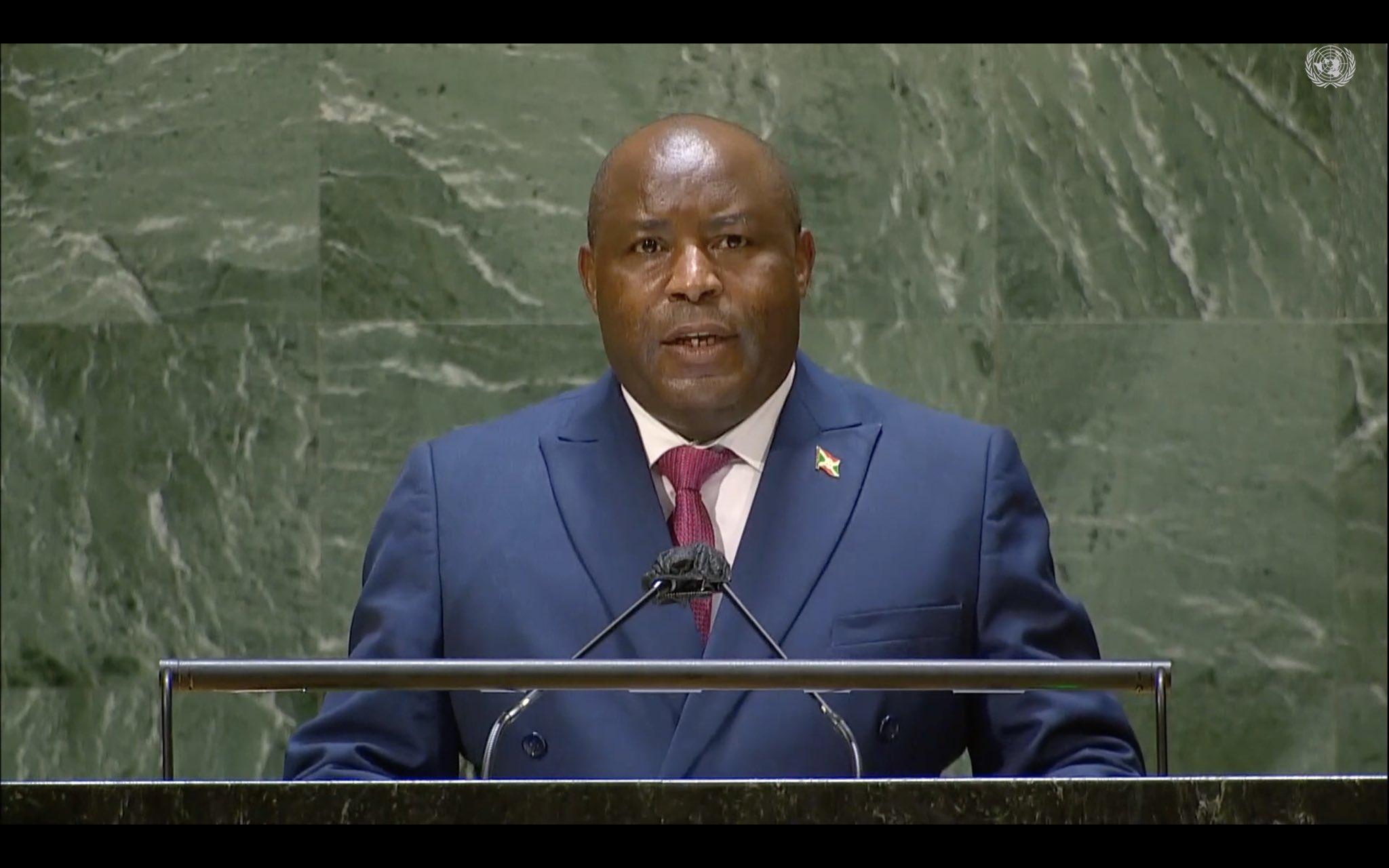 Discours du Président de la République du Burundi SE Evariste Ndayishimiye lors de la 76ème session de l'Assemblée Générale des Nations-Unies à New York.