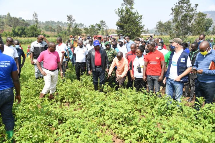 Le Chef de l'Etat exhorte les agriculteurs à mettre en commun les terres pour accroître la production